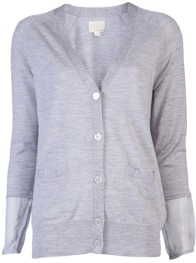 Girl. By Band Of Outsiders Silk cuff cardigan