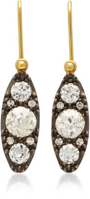 Sylva & Cie Lori 18K Gold, Sterling Silver and Diamond Earrings