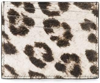 Maison Margiela leopard print cardholder