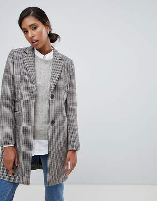 Jack Wills check wool blend overcoat