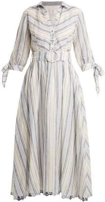 GÜL HÜRGEL Striped linen dress