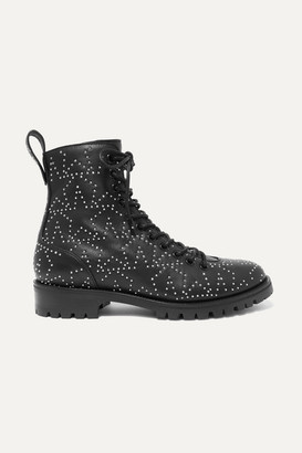 Jimmy Choo Cruz Studded Textured-leather Ankle Boots - Black