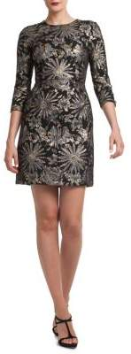 Trina Turk Cocktail Soiree Moonrise Floral Dress