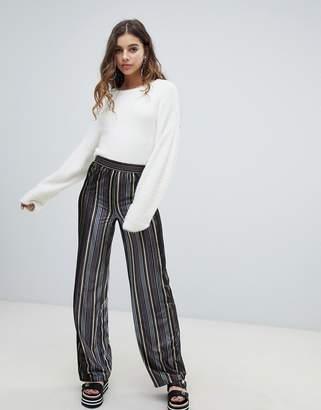 JDY velvet stripe wideleg PANTS