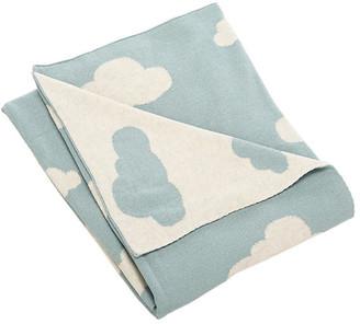 One Kings Lane Cloud Baby Blanket - Blue/White