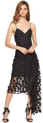Milly FLORAL APPLIQUE ANTONIA DRESS