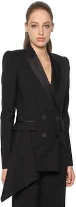 Alexander McQueen Light Wool & Silk Blend Tuxedo Jacket