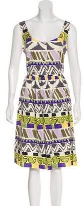Prada Printed A-Line Dress