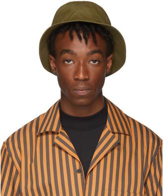 Acne Studios Green Face Bucket Hat