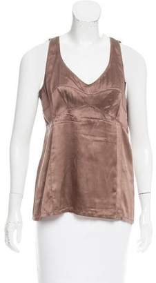 Brunello Cucinelli Silk Sleeveless Top