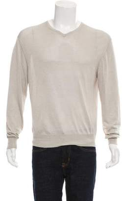 Ralph Lauren Purple Label Silk V-Neck Sweater