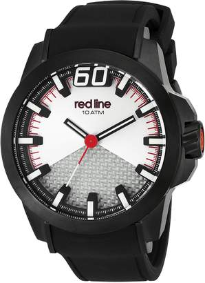 Redline Red Line Men's 'Black Zone' Quartz Stainless Steel Casual Watch (Model: RL-305-BB-02S-RDA)