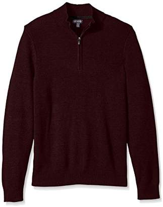 Van Heusen Men's 1/4-Zip Solid Sweater