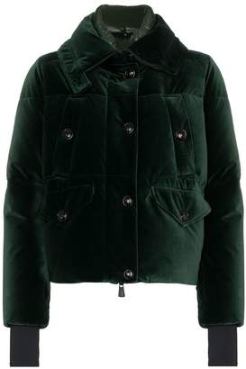 Moncler Loye high neck feather down puffer jacket