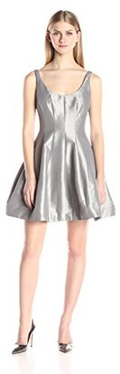 Betsy & Adam Women's Short Dress Fit and Flair Party Look with Exposed Zipper $169 thestylecure.com
