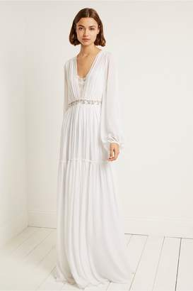 French Connection Alana Drape Maxi Wedding Dress