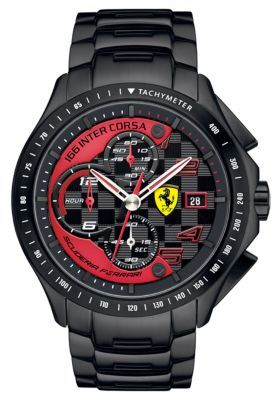 Ferrari Men's Race Day Black Chronograph Watch
