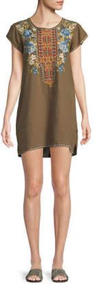 Johnny Was Hira Linen Peasant Tunic Dress