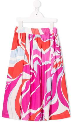 Emilio Pucci Junior abstract print skirt