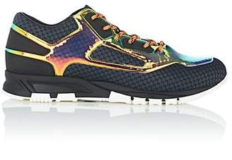 Lanvin Men's Metallic PVC & Mesh Sneakers - Bt. Green, Blk