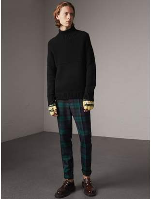 Burberry Tartan Wool Tailored Trousers