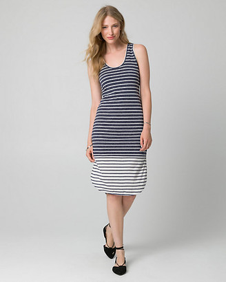 Le Château Stripe Jersey Scoop Neck Slit Dress