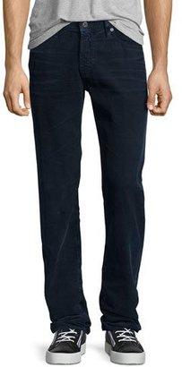 AG Graduate Sulfur Infantry Corduroy Pants, Dark Blue $198 thestylecure.com
