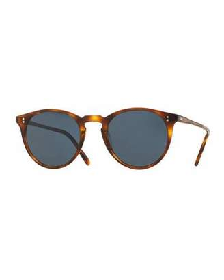 Oliver Peoples The Row O'Malley NYC Peaked Round Sunglasses, Tortoise