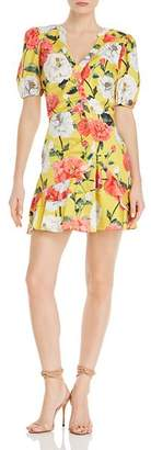 Parker Minna Floral Print Mini Dress