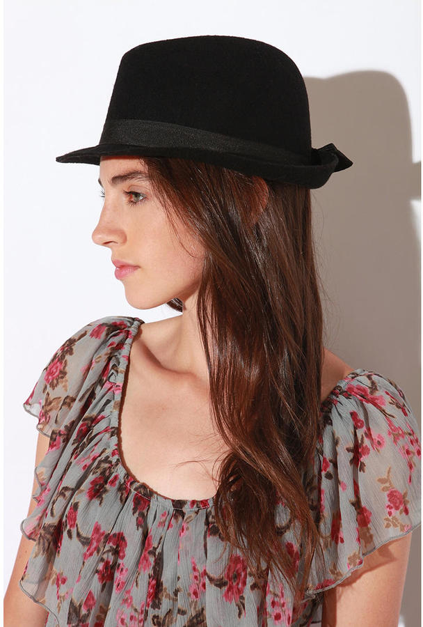 Pins and Needles Felt Fedora With Bow