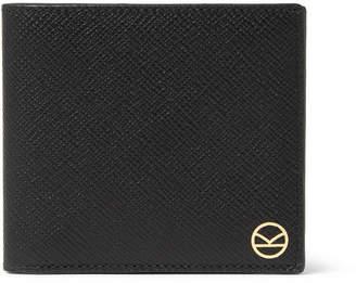 Smythson Kingsman Panama Cross-Grain Leather Billfold Wallet