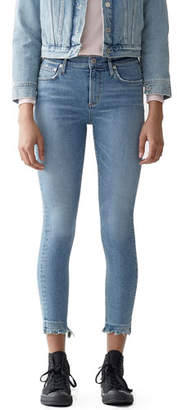 A Gold E AGOLDE Sophie High-Rise Cropped Skinny Jeans with Chewed Hem