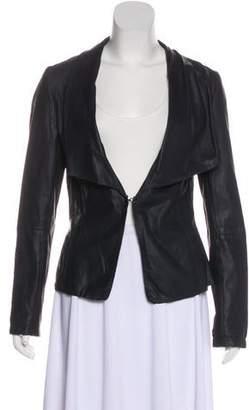 Bod & Christensen Leather Shawl Collar Jacket