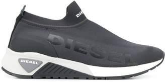 logo print sock sneakers