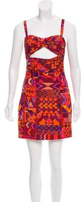 Mara Hoffman Silk Abstract Print Dress