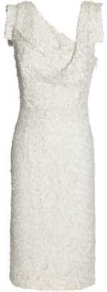 Black Halo Danish Girl Sequined Mesh Dress