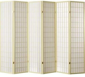 """World Menagerie Trevor 70"""" x 84"""" Pane Shoji 6 Panel Room Divider"""