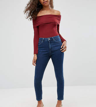 Asos RIDLEY High Waist Skinny Jeans in Clemence Wash