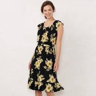 Lauren Conrad Women's Pleated Midi Dress