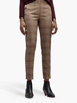 Check Slim Leg Trousers, Multi