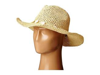 San Diego Hat Company PBC2445 Cowboy Hat with Wired Brim and Shell Trim Caps