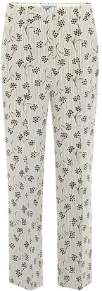 Prada Printed silk cropped trousers