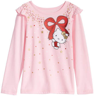 Hello Kitty Little Girls Glitter Bow T-Shirt