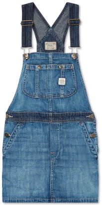Polo Ralph Lauren Big Girls Overall Denim Dress