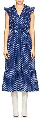 Robert Rodriguez Women's Dot-Print Cotton Voile Maxi Dress