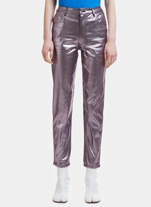 Eckhaus Latta Metallic Jeans in Lavender