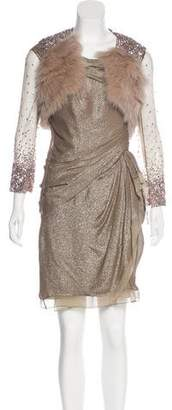 J. Mendel Metallic Dress Set