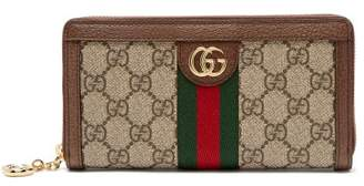 Gucci Ophidia Gg Supreme Leather Wallet - Womens - Grey Multi