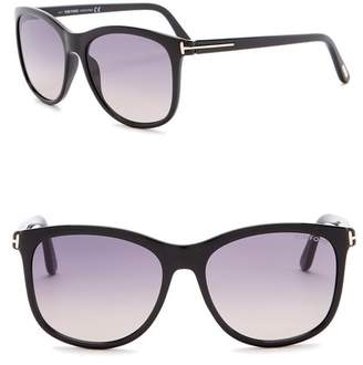 Tom Ford Fiona 56mm Square Sunglasses