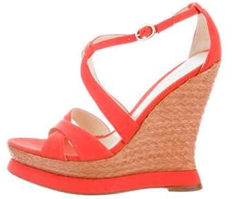 Alexandre Birman Canvas Platform Sandals